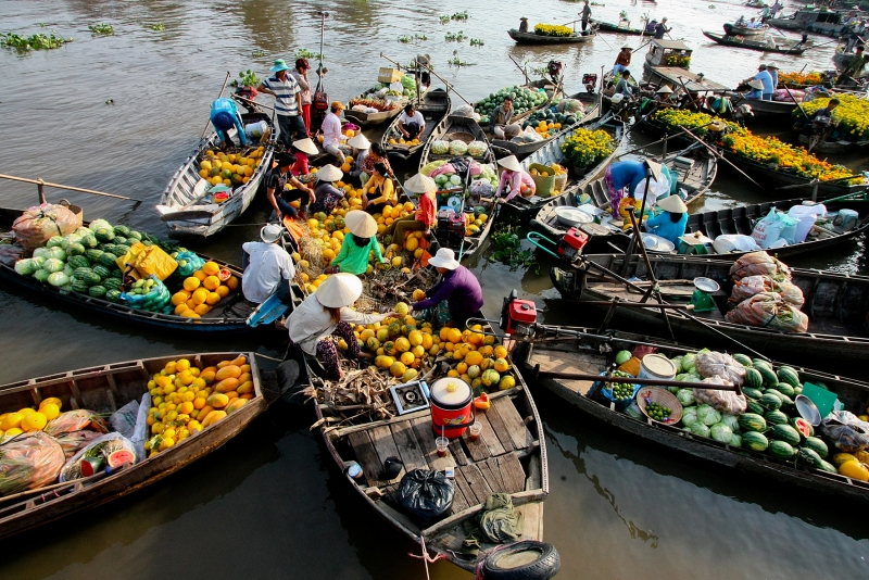 SIC Cai Be floating market – Tan Phong Island Full Day tour from Saigon