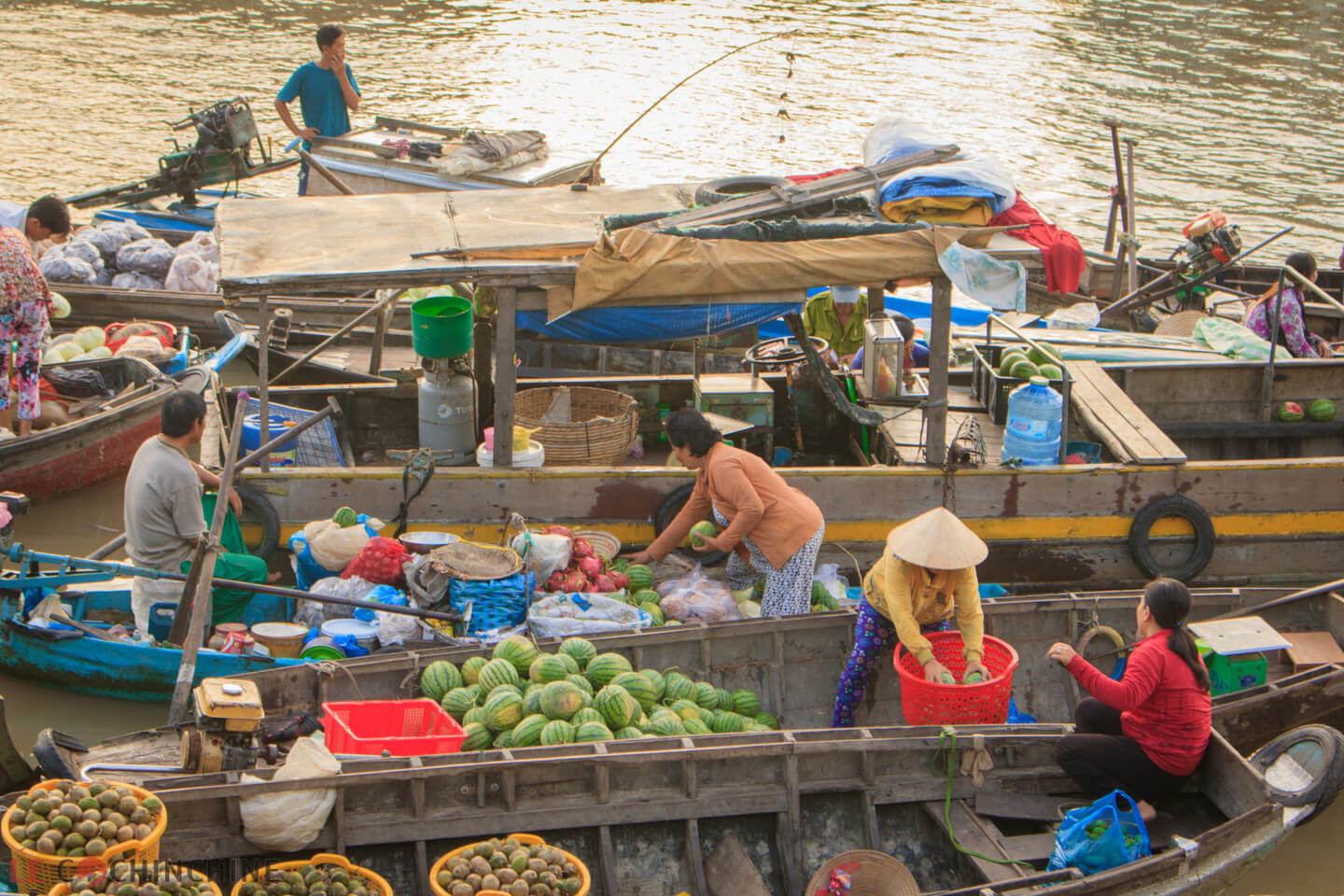 Can Tho Floating market